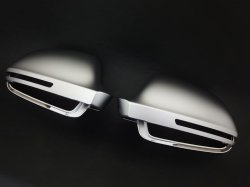 画像2: Audi純正Q3用RS Q3マットアルミ調ミラーハウジングセット