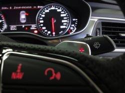 画像2: Audi純正A1(8X)用アルミ調ステアリングパドルセット