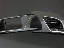 画像1: Audi純正S5/A5(8T)用ハイグロスブラックメーターパネル