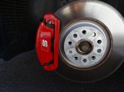 画像1: Audi純正S Q2(GA)用レッドキャリパーセット