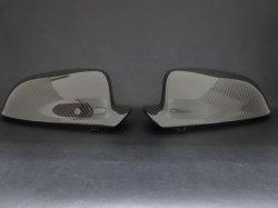 画像1: Audi純正S8 plus(4H)専用カーボンミラーハウジングセット