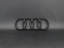画像2: Audi純正A4/A5MY20以降用フロント用4Ringsブラックエンブレム