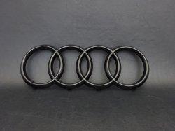 画像3: AudiAG純正Q2,Q8,A8フロント用ブラック4Ringsエンブレム