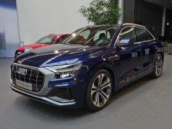 画像3: Audi純正Q8(F1)用アルミ調パーキングブレーキスイッチ