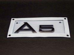 画像2: AudiAG純正グロスブラックリアA5エンブレム