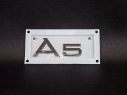 画像1: AudiAG純正グロスブラックリアA5エンブレム