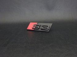 画像2: Audi純正S3(8P,8V,GY)グリル用ブラックエンブレム