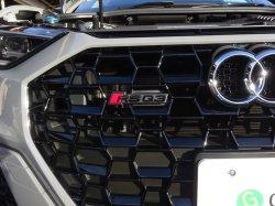 画像1: AudiAG純正RS Q3(F3)グリル用ブラックエンブレム