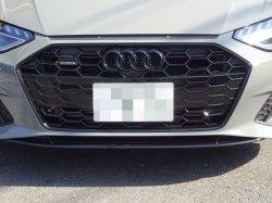 画像1: Audi純正FL後A4/A5/NewA3用フロント用4Ringsブラックエンブレム