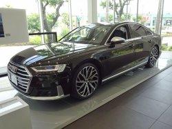 画像2: Audi純正S8用21インチ10Yスポークエボスタイルブラックアルミホイール
