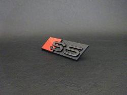 画像1: G-Speed+Audi純正FL前S5(F5)グリル用ブラックエンブレム